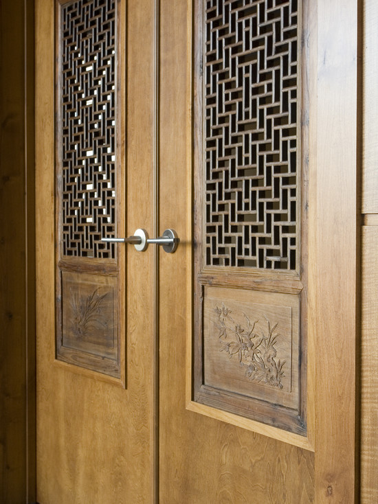 Chinese Screens Built Into French Doors